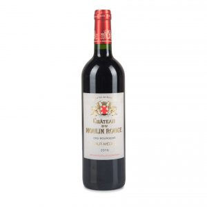 A wine bottle, Chateau Moulin Rouge Haut Medoc